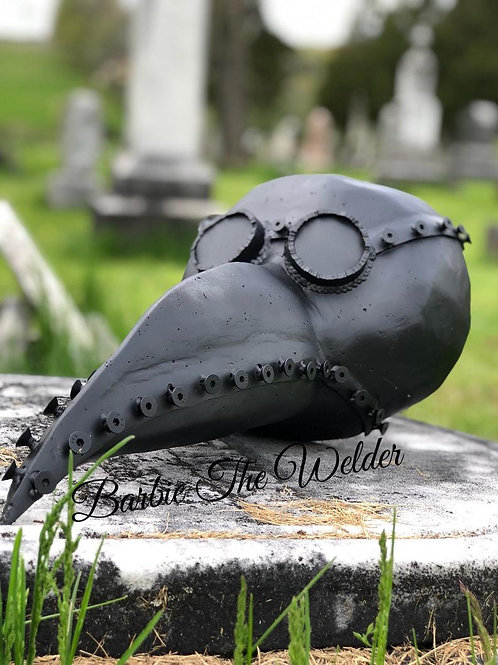 Plague Doctor Mask Metal Sculpture