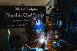 Barbie The Welder MIG welding