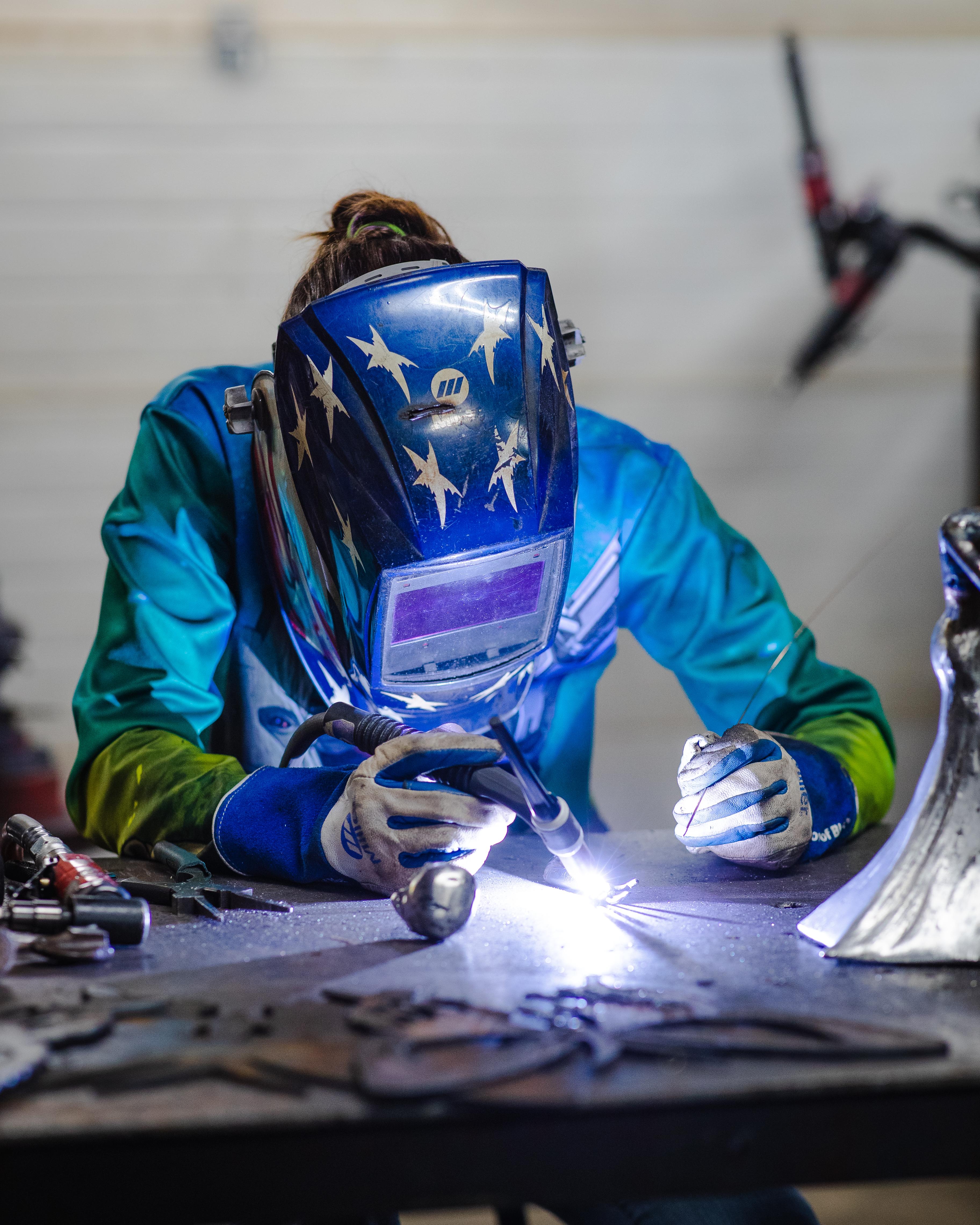 Barbie The Welder TIG welding