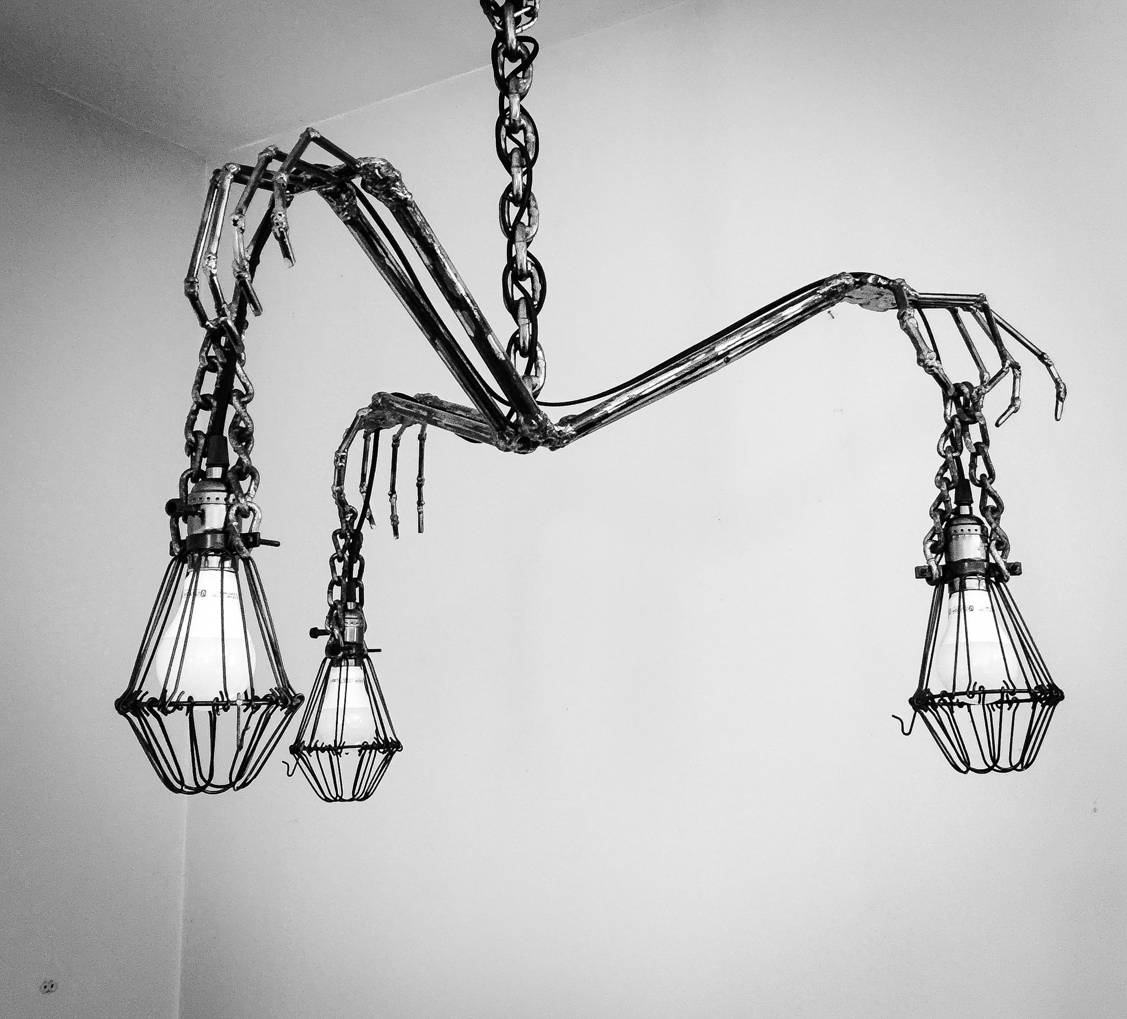 Skeleton Hand Chandelier Lighting Metal