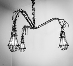 Skeleton Hand Chandelier Lighting Metal