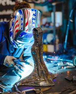 Barbie The Welder MIG welding Poe Raven Woman