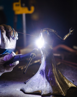 Barbie The Welder TIG welding Alice Butterfly Skull Grim Reaper