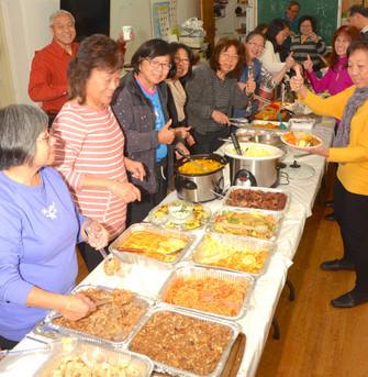 CCLI Thanksgiving Dinner Food Spread