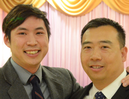 Installation of Co-Presidents Randy Yung and Chris Chiu