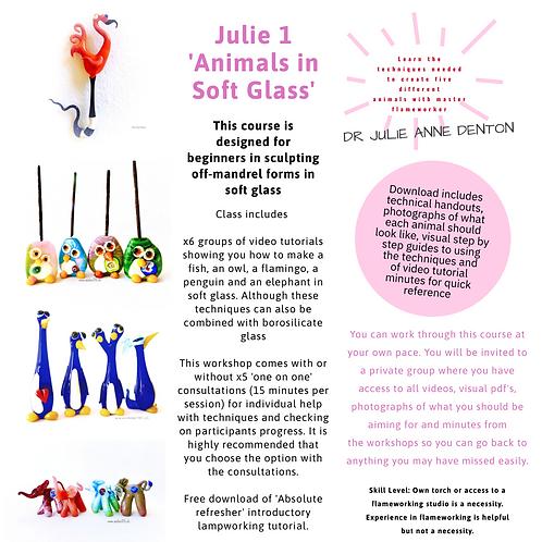 Julie 2: Sculpting Animals in Soft Glass E_course