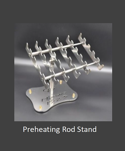 Carlo Donna Preheating Rod Stand with Murano 1923 base