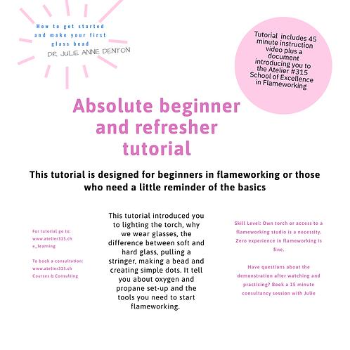 Absolute beginner / refresher flameworking tutorial