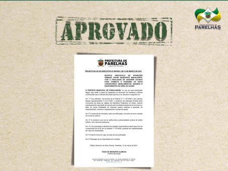 APROVADO PROJETO DE LEI 006/2021
