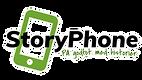 Logo StoryPhone transp white square 2500