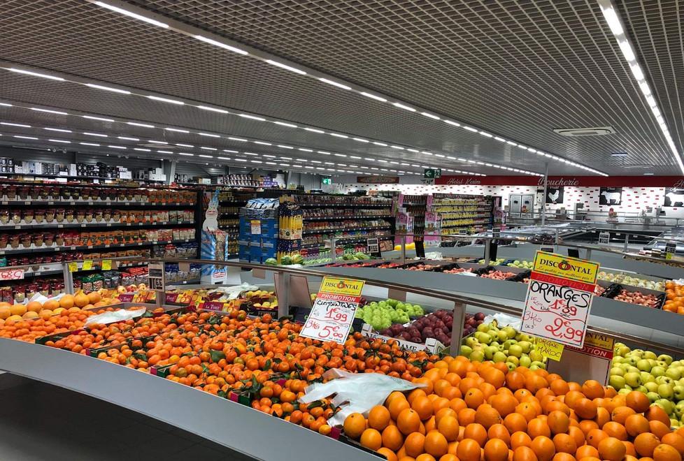 Ilot fruits et légumes en vague