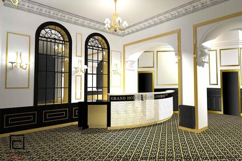 Hall d'accueil hôtel