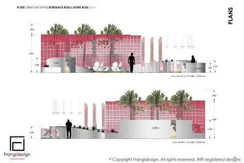 Création stand bordeaux rosés