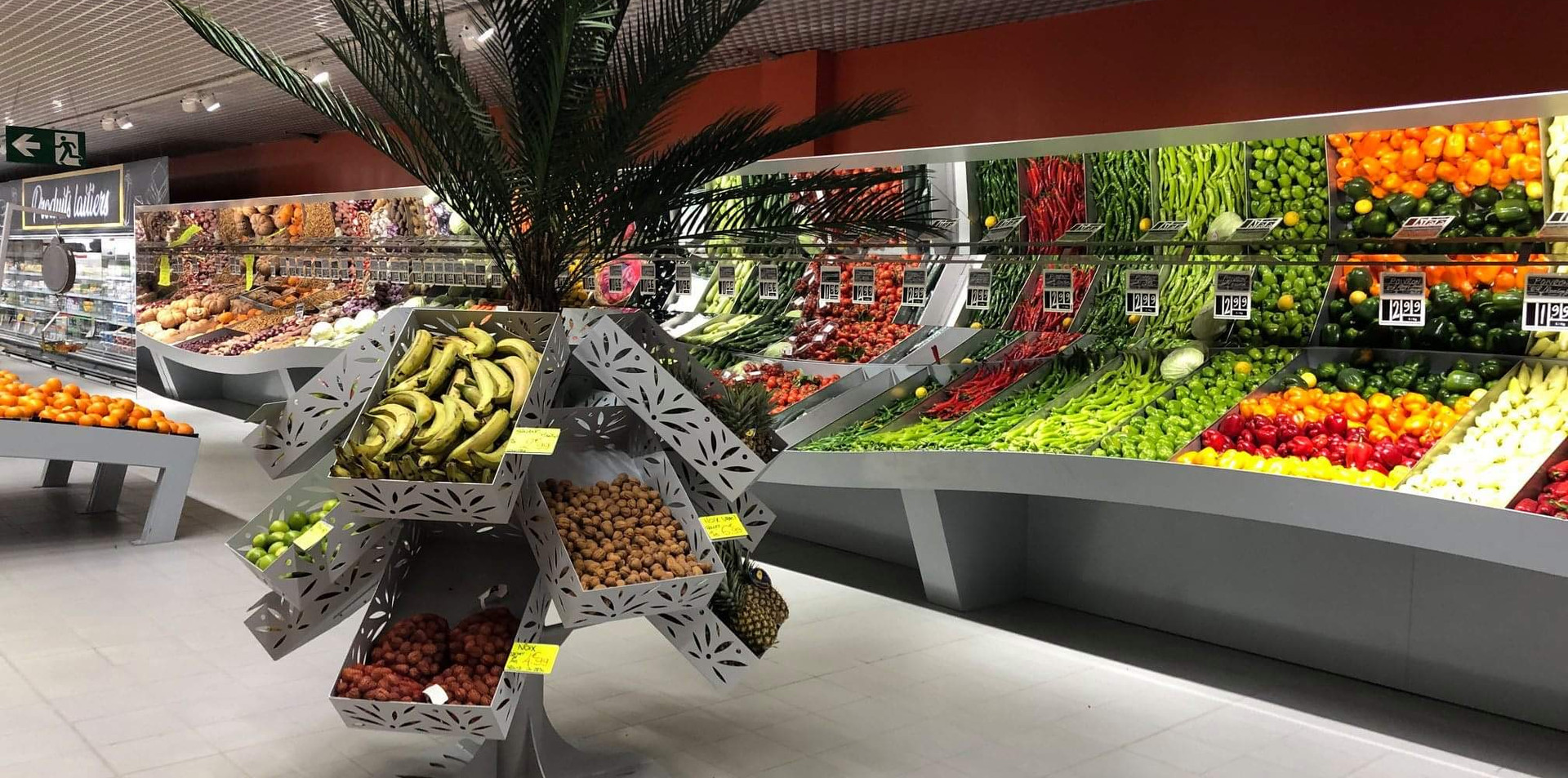 Mobilier fruits et légumes en vague
