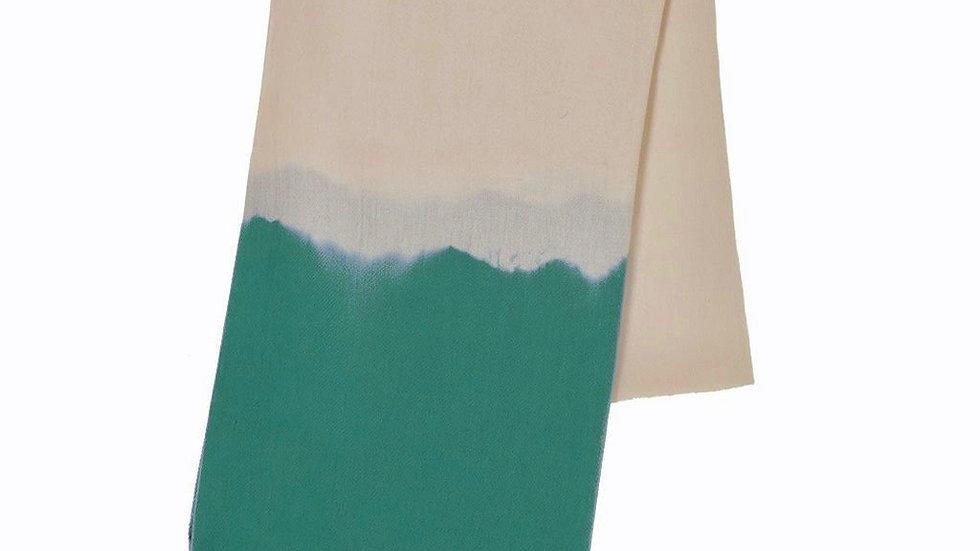 Teal Dip Dye Turkish Beach Towel