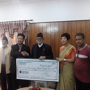 Donation by MNP to Earthquake Victim of Nepal