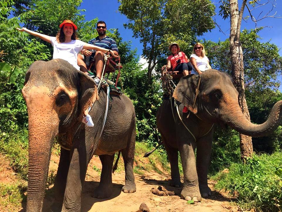 Elephant Riding City Tour Phuket