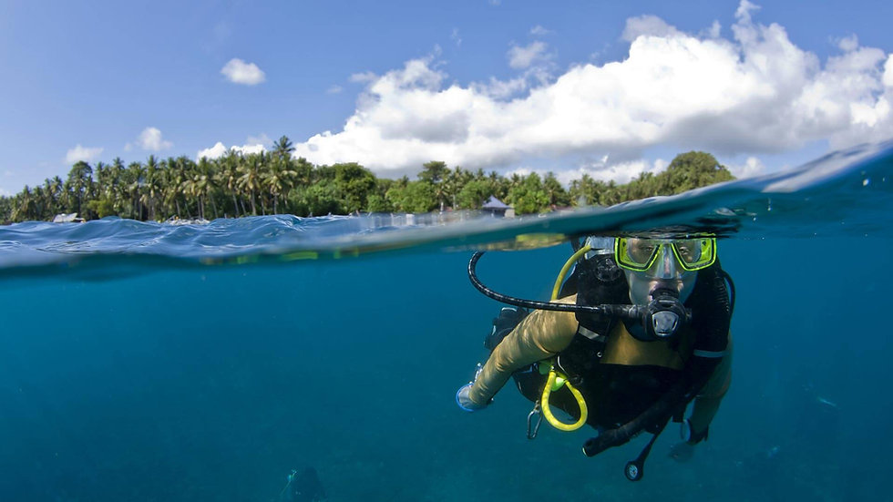 Discover & Fun Diving, with private guide 5000 Thb.