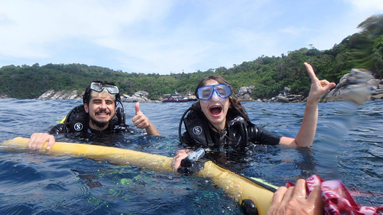 Phuket diving fun divers dsd