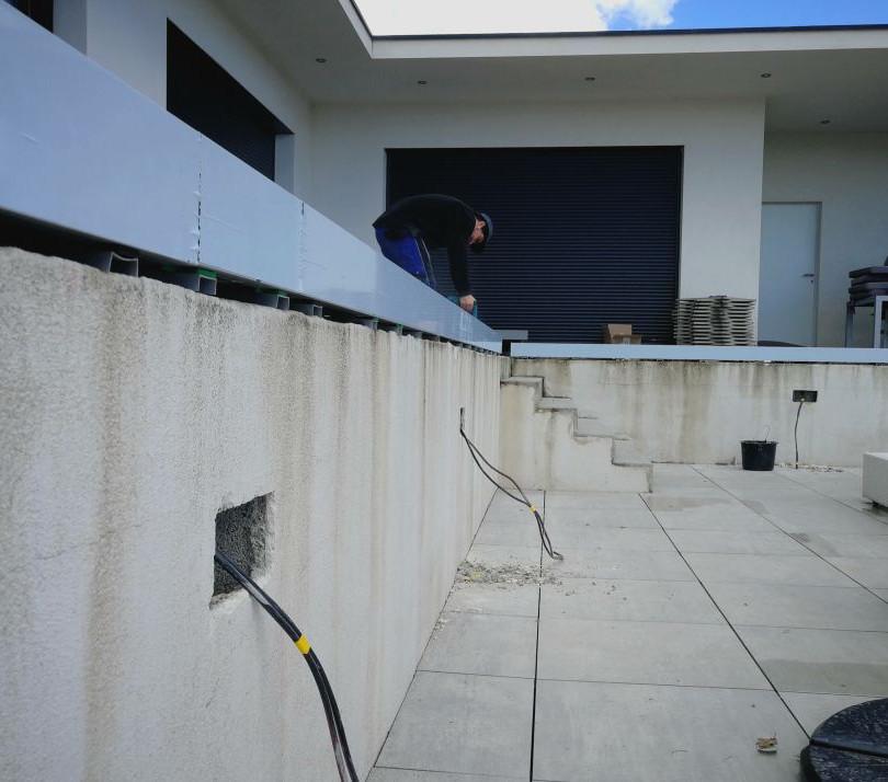 Réhabilitation espace piscine