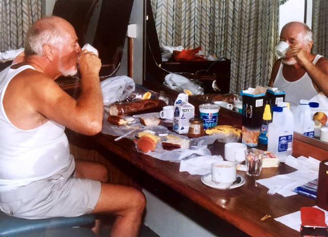 Motel room breakfast