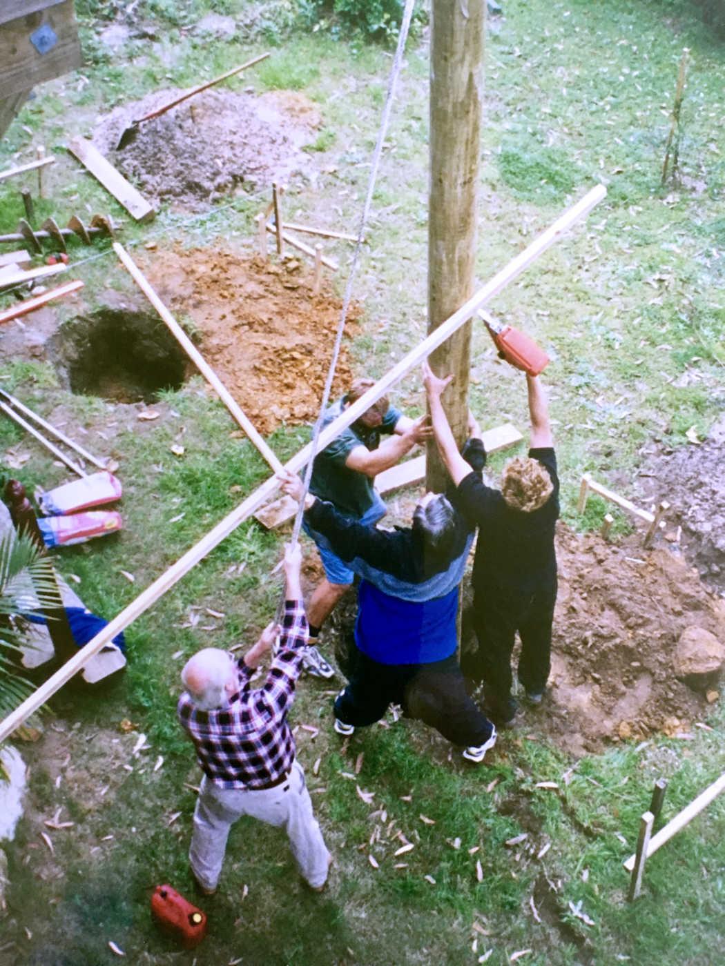 Building the new veranda