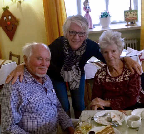 with Janice and Gerdi