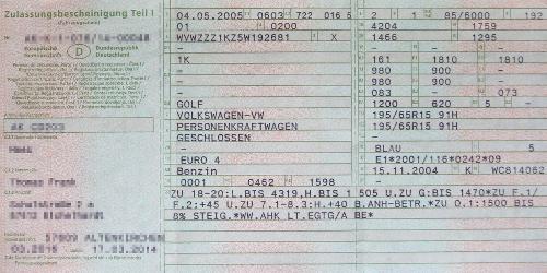 Német autó forgalomba helyezése