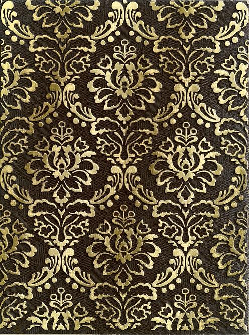 Декор коричневый 25х33