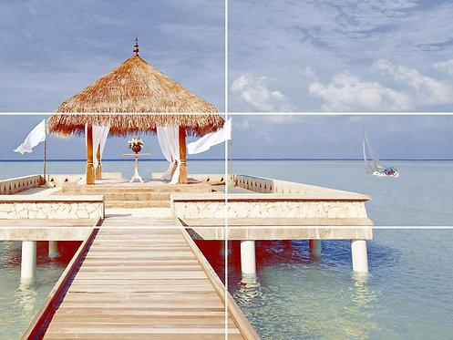 Панно Мальдивы (6шт.) 1000*750»