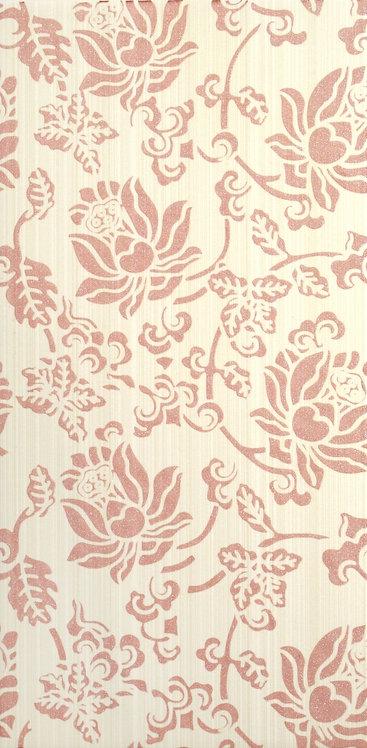 Декор розовый 19,8х39,8 1641-0073