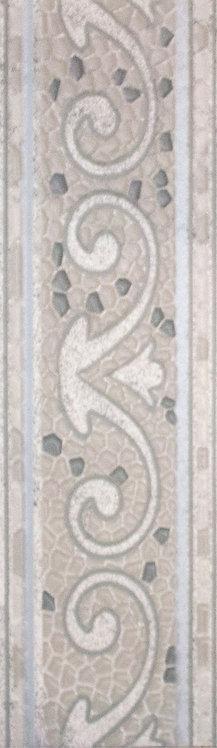 ТЕНЕРИФЕ бордюр напольный серебряный14х45 3604-0104