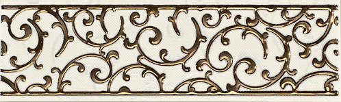 Бордюр орнамент крем 25х7,5