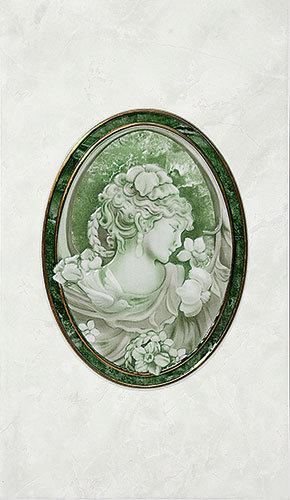 Декор Пьетра зеленый 23x40 см Д 20 011