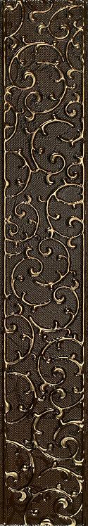 Бордюр орнамент шоколад 7,5х45
