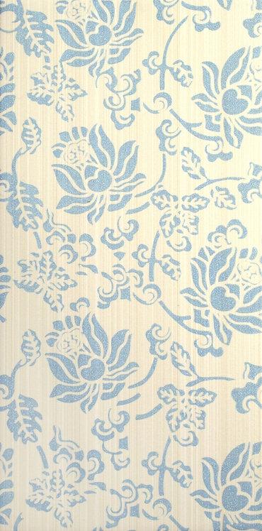 Декор голубой 19,8х39,8 1641-0072