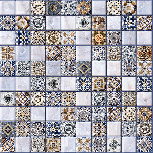 ОРНЕЛЛА арт-мозаика синий 30х30