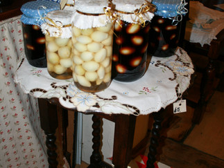 SEASONAL PICKLED ONIONS NOW ON SALE IN THREE DIFFERENT FLAVOURS OF VINEGARS...while stocks last