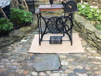 COLLECTORS PIECE THIS OR STILL USEABLE TREADLE SEWING MACHINE