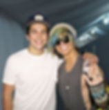 Ian Erix and Austin Mahone at Paradise M