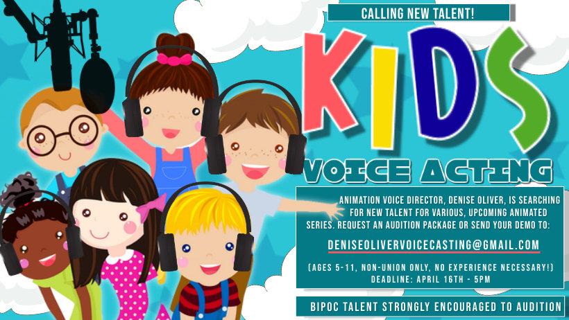 Talent Call_April 2021_Kids Voice Acting