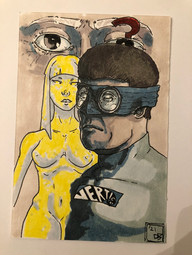 Ben Young Triple Threat Marker on paper Briarcliff High SchoolRoxanne Ritacco 9 x 11 inches