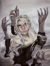 Emma Sullivan My Nightmare Oil on canvas Byram Hills High School Ms. Jayne Karlin 16 x 20 inches