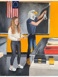 Lillian Juris American Truth Oil on board Briarcliff High SchoolRoxanne Ritacco 16 x 20 inches