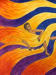 Beatriz Nascimento LeiteSunbathing Watercolor on paperBronxville High SchoolCourtney Alan 11 x 14 inches
