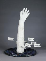 Sydney Dooley Untitled Mixed-media (ceramic, plaster gauze, wire, paper)Byram Hills High School Ms. Amy Menasche 19 x 23 x 16 inches