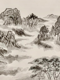 Yu Luo Untitled Watercolor and ink on paper EF Academy New YorkJessica Soininen-Eddis 18 x 24 inches