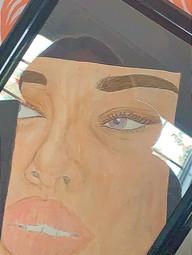 Lana Hosp Honey & Glass Colored pencil on cardstock Edgemont High School Ms. Adrianne Amorosa 9 x 12 inches
