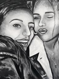 Maya Engenhiero Metro North Acrylic on canvas Bronxville High SchoolCourtney Alan 18 x 24 inches
