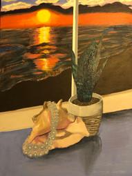 Melissa Marchetti Vanitas Acrylic on canvas Bronxville High SchoolCourtney Alan 18 x 24 inches